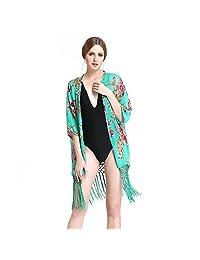 TURATA Women Beach Cover Up One Piece Beach Bikini Wear Swim Coverup