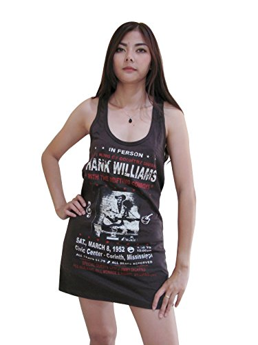 Bunny Brand Womens Hank Williams The King Of Country Mini Dress Tank Top Vest T-Shirt