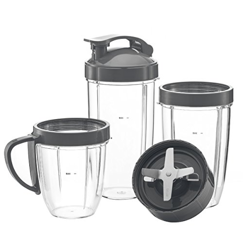 Preferred Parts ULTIMATE Cup & Blade Replacement Set for NutriBullet High-Speed Blender/Mixer System | 7-Piece Replacement Set for NutriBullet Cups by Preferred Parts