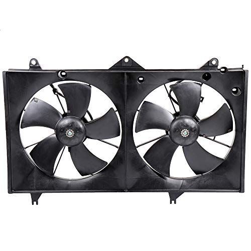 - ECCPP Condenser Radiator Cooling Fan Assembly Replacement fit for 2002-2006 Toyota Camry 2.4L