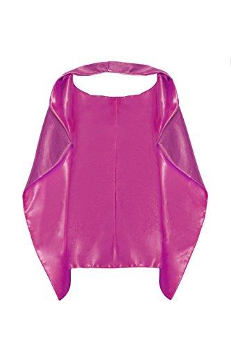 Joy by T.O Child's Superhero Cape/Capa de superheroe (M 9-up Years Hot Pink)