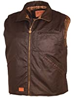 Outback Trading Co Men's Co. Sawbuck Flannel Lined Oilskin Vest