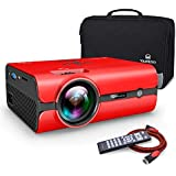 VANKYO Leisure 410 Mini Projector with 2500 Lux, Portable Projector with Carrying Bag, LED Video Projector 1080P Support, Home Theater Projector Compatible with Fire TV Stick HDMI USB VGA AV SD Card