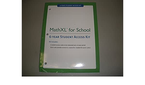 mathxl for school 6 year student access kit 9780133171358 amazon