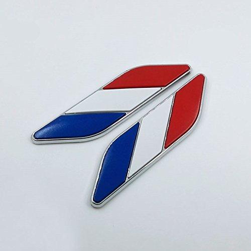 2x voiture autocollants sticker drapeau fran u00e7ais pour d u00e9coration voiture adh u00e9sif low-cost