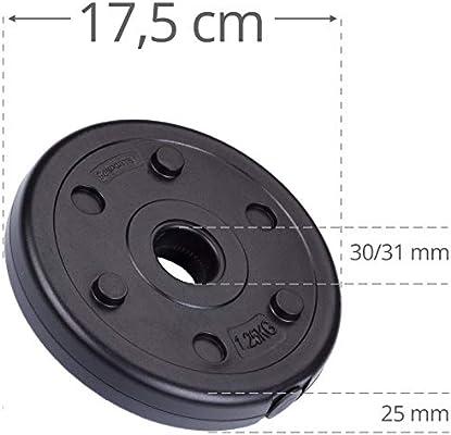 ScSPORTS - Discos para Mancuernas (18,5 kg): Amazon.es: Deportes y ...