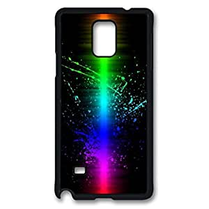 Colorful Splash Printed Hard Plastic Case Cover for Samsung Galaxy Note 4