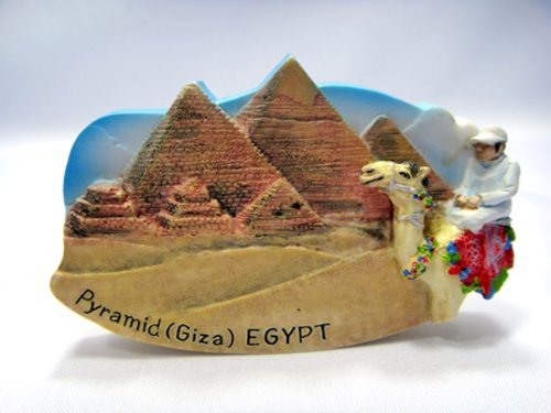 Pyramid Giza Egypt Souvenir Collectibles Hand Sculpting and Hand Painting Fridge Magnet Magnetic Cute Charm Gift 3d