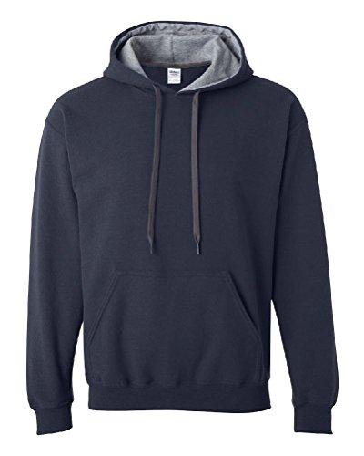 Ponce Gildan Men Heavy Blend Hooded Sweatshirt with Contrast color S-3XL 185C00