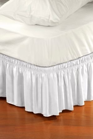 Kennedy Home Collection Dust Ruffle Bed Skirt, Queen/King, White ()
