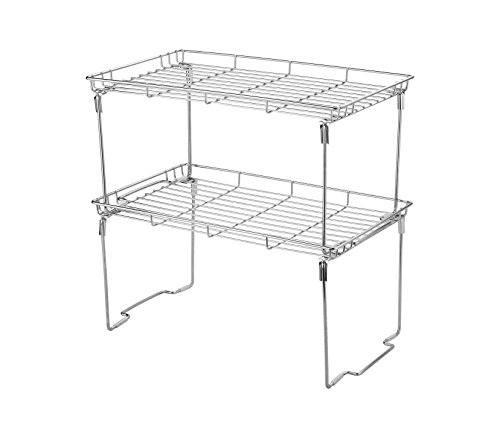 (Stackable and Foldable Kitchen Shelf Organizer 15