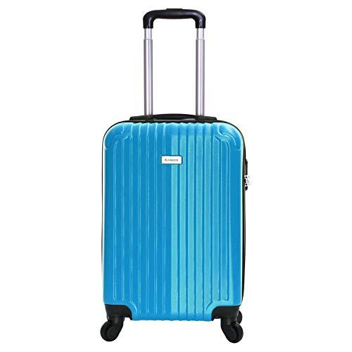 Slimbridge Hard Cabin Hand Carry-on Suitcase Luggage Bag 55 cm 2.5 kg 35 litres 4 Wheels Number Lock, Borba (Raspberry…