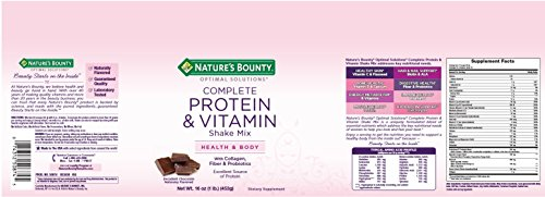 Nature's Bounty Optimal Solutions Protein Shake Mix, 16 ounces