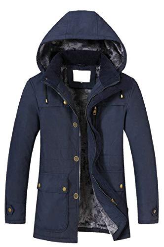 Capispalla Collare Della Maschile Cappotto Uomini Blu Invernale Imbottito Giacca Sicurezza Fasciato Cotone Di nP1xHBq