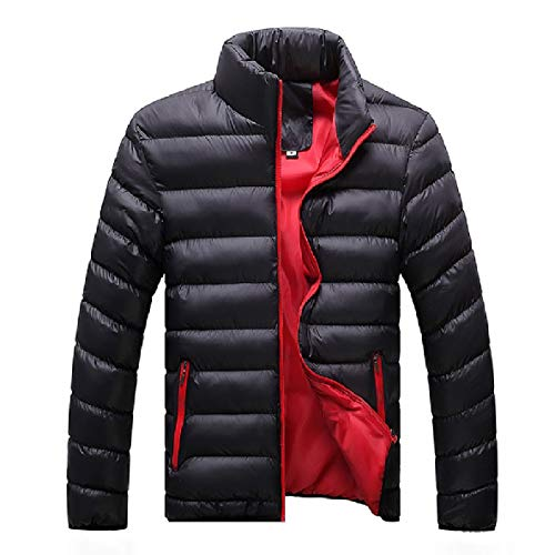 Thick up Down Zip Outwear Jackets Collar XINHEO Stand Fitted Mens AS2 Winter 4qtxIBW