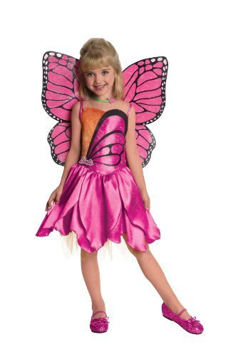 Barbie Fairytopia Mariposa and Her Butterfly Fairy Friends Deluxe Mariposa Costume, Toddler 1-2 by Rubie's