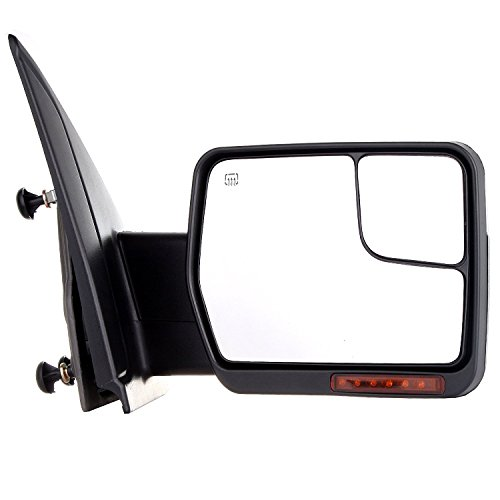 SCITOO Towing Mirrors 2007-2014 F-150 Blind Spot Mirror Power Heated Chrome Puddle Signal Double Glass (Passenger Side)