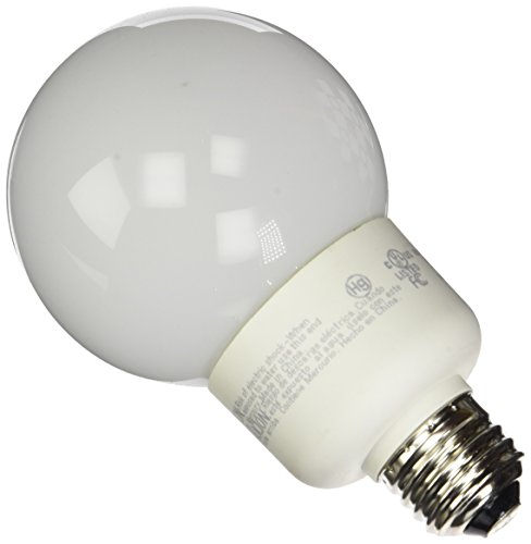 G40 Compact Fluorescent Light Bulb - TCP 4G2515TD65K CFL TruDim G25 - 60 Watt Equivalent (15W) Full Spectrum Daylight (6500K) Dimmable Decorative Globe Light Bulb