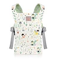 GAGAKU Dolls Carrier Front and Back Soft Cotton for Baby Girls Over 18 Months, Cute Pattern