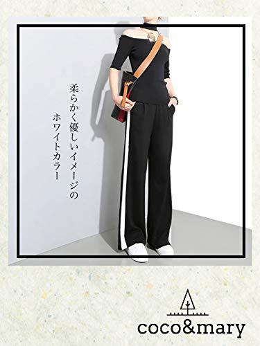 ac89fbf2570406 ココマリ)coco&mary カジュアル パンツ サイドライン ジャージ 下 スポーツ レディース