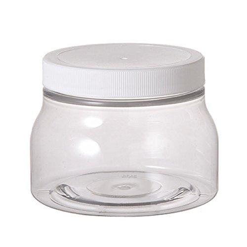 Premium Life Plastic Jars - 8 Oz. Pet Tuscany Style - 70mm - Pack of 12