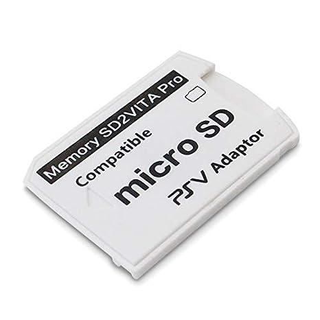 SODIAL Versión 6.0 Sd2Vita para PS Vita Tarjeta De Memoria TF para Psvita Tarjeta De Juego PSV 1000/2000 Adaptador 3.65 Sistema Tarjeta Micro- R15