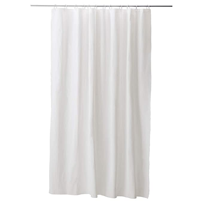 Amazon IKEA ASIA EGGEGRUND Shower Curtain White Home Kitchen