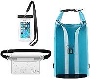AiRunTech Waterproof Dry Bags Beach Storage Bag Boating Kayaking Snowboarding Rafting Canoe Accessory Camping