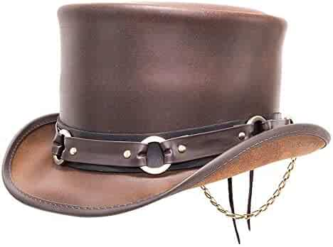 4a187b3b Voodoo Hatter El Dorado-SR2 Band by American Hat Makers Leather Top Hat