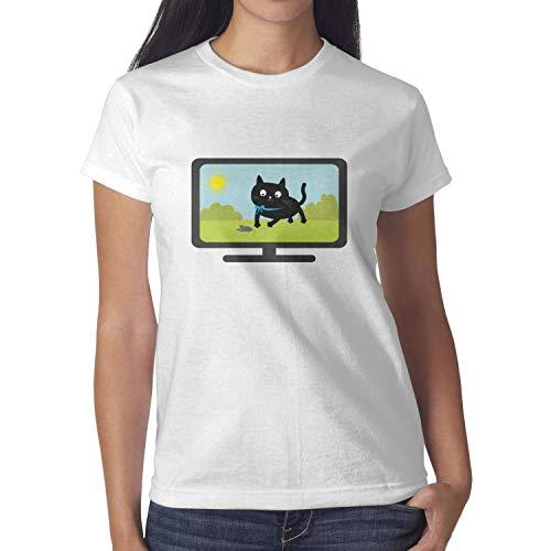 Big cat tv 2018 Big Cat Tv-1 Funny t Shirt Women