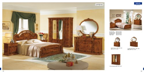 ESF MILADY Classic Walnut Italian Lacquered King Size Bedroom (Lacquered Bedroom Furniture)