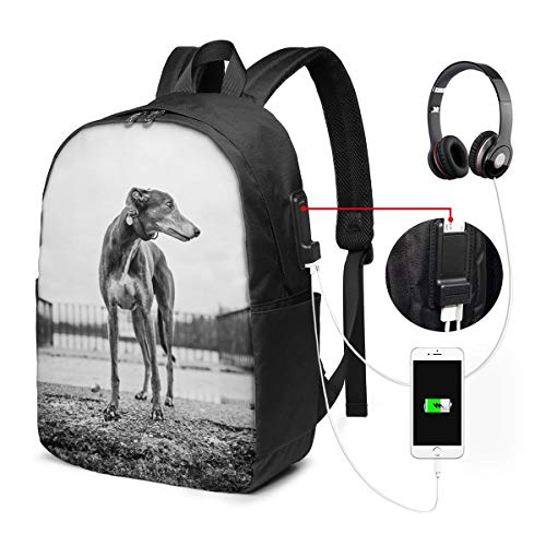 95 Inch Pedestal - Backpack Grey Dog Stand School Backpack Anti-shrinkage Daypacks Durable Thick Polyester Laptop Backpack USB Backpack With Adjustable Strap For Business Travel Outdoor
