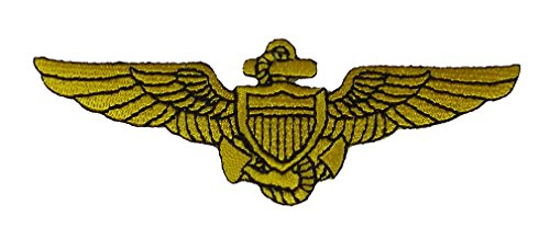NAVAL AVIATOR PILOT WINGS Patch - Veteran Owned Business ()