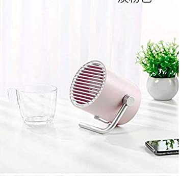 for Home Office SCDFS Small Personal Desk USB Fan Portable Mini Table Fan with Twin Turbo Blades Whisper Quiet Cyclone Air Technology Outdoor Travel Color : Blue