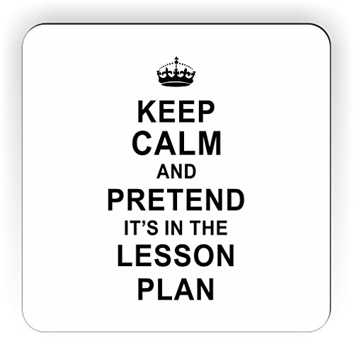 Keep Calm Pretend it's on the Lesson Plan Square Fridge Magnet