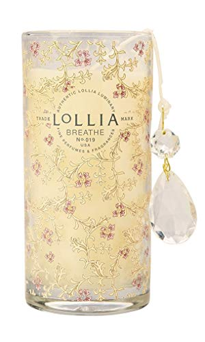 Lollia Breathe Petite Perfumed Luminary Candle Beautiful Fragrances of Peony and White Lily ()