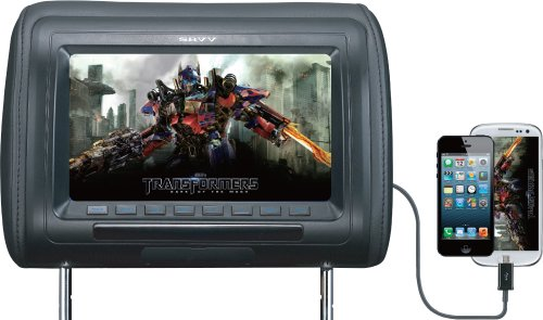 SAVV LM-U9070H 9-Inch Wide Smart-Link Rainbow Headrest Pillow Monitor