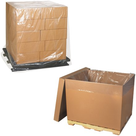 Aviditi Clear Pallet Cover and Bin Liner, 3 Mil thick, PC181, 48 x 48 x 106'' 35 Per Roll