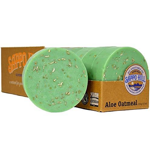 (Sappo Hill Glyceryne Cream Soap Aloe Oatmeal 12 Bars 3 5 oz 100 g Each)
