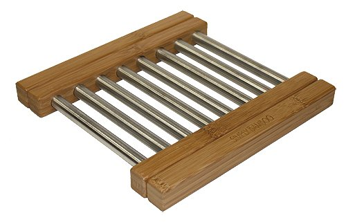 Expanding Trivet (Expandable Bamboo & Steel Trivet by Simply Bamboo)