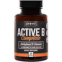Onnit Active B Complete - Methylated B Vitamins with Benfopure and 5-MTHF Folic Acid (30ct)