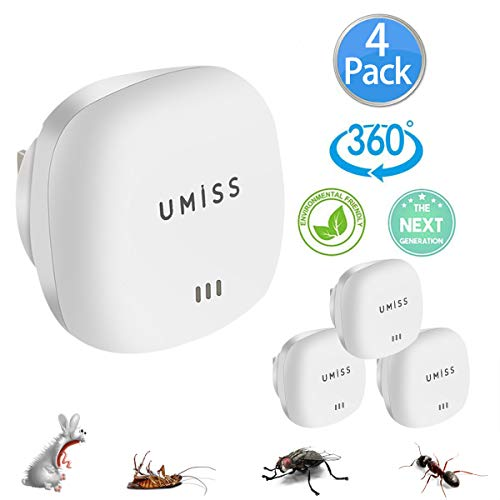 [2018 New] Ultrasonic Pest Repeller 4 Packs Electronic Pest Control...