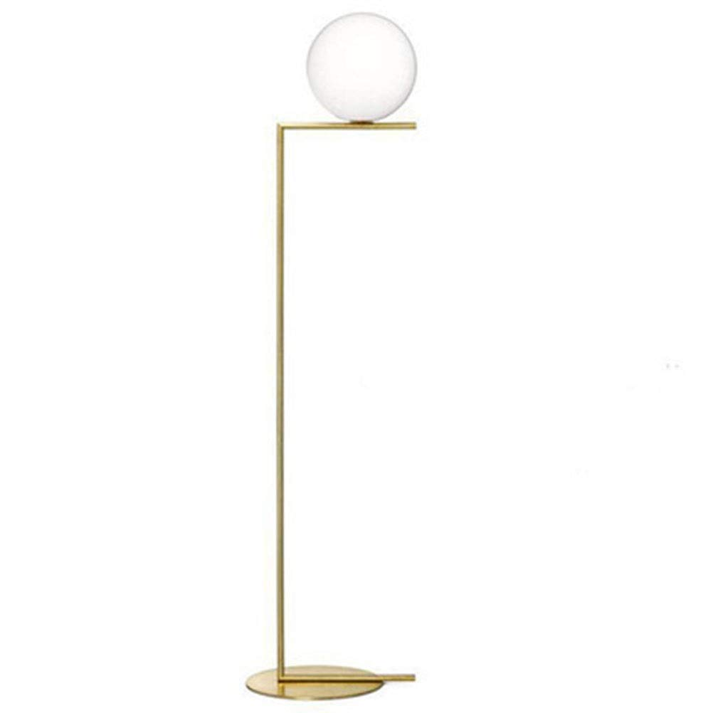 MWNV フロアランプ現代のミニマリストガラスボール垂直ランプ人格寝室のベッドサイドのリビングルームソファボールフロアランプ -フロアスタンドランプ (サイズ さいず : A) B07Q85D7WZ  A