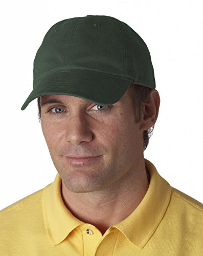 UltraClub 8111 Brushed Solid Cap Forest Green One Size ()