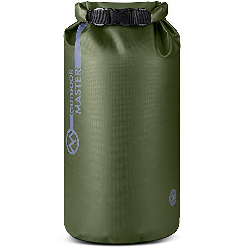 (OutdoorMaster Dry Bag - Waterproof Floating Roll Top Dry Sack for Boating, Kayaking, Fishing, Swimming, Surfing, Rafting - Army Green, 30L)