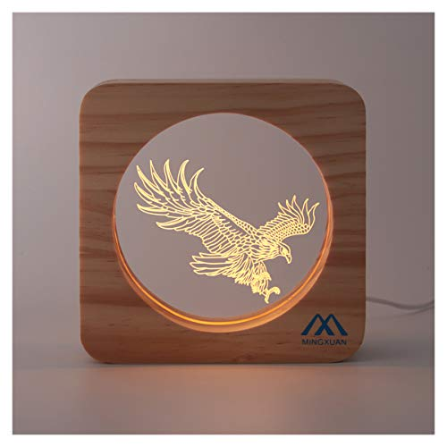3D Night Light Eagle Design Acrylic Panel USB Power for sale  Delivered anywhere in USA