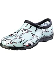 Sloggers Women's Waterproof Rain and Garden Shoe with Comfort Insole, Cow-Abella Mint, Size 8, Style 5117CWM08