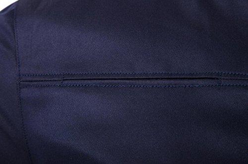 Uomini Davanti A Navy Ci Xxs Cerniera Giacca Casuale Eku Degli Blu Vento Cappotto Outwear qfWpB8aB