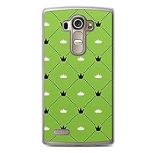 Floral LG G4 Transparent Edge Case - Green Black and White