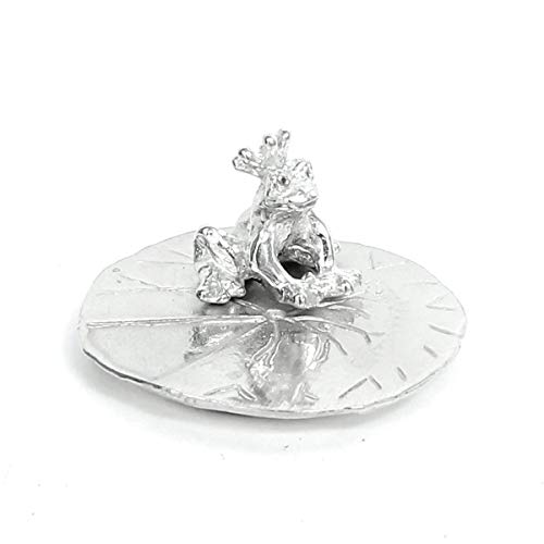 Frog Prince Ring Holder - Gift Boxed with One Kiss Can Change Everything Story Card - Handcrafted Pewter Made in USA
